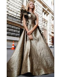 Mnm Couture - N0291 Ruffled Asymmetrical A-line Gown - Lyst