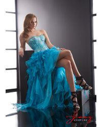 Jasz Couture - Dress In Turquoise - Lyst