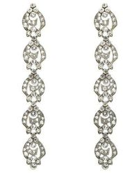 Ben-Amun - Crystal Lattice Drop Earrings - Lyst