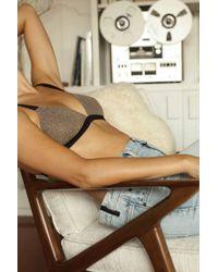 Leah Shlaer Swimwear - The Vida Bikini Top In Disco Gold - Lyst