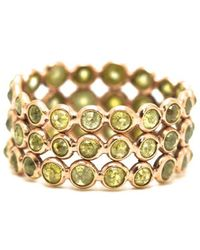 Trésor - Rose Cut Organic Diamond Triple Row Ring Band In K Rose Gold - Lyst