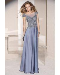 Needle & thread Slate Blue Dragonfly Garden Maxi Dress in Blue ...