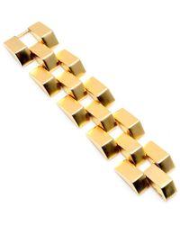Ben-Amun - Gold Metal Pyramid Bracelet - Lyst