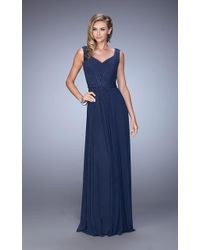 La Femme - 21624 Jewel Adorned A-line Evening Gown - Lyst