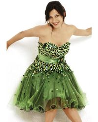 Nina Canacci - C- Dress In Black Lime - Lyst