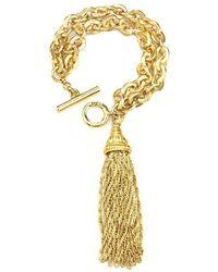 Ben-Amun - Gold Chain Link Bracelet With Tassel - Lyst