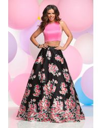 Zoey Grey - Two Piece Floral Long Gown 31074 - Lyst