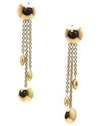 Trésor | Lente Earrings In K Yellow Gold With Shiny Finish | Lyst