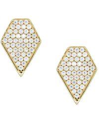 Rachael Ryen - Diamond Pave Studs - Lyst