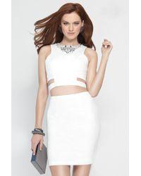 Alyce Paris - Dress In Diamond White - Lyst