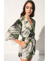 Lamarque - Jamari Palm Kimono Silk Jumpsuit | Jamari Combinaison Palm En Soie - Lyst