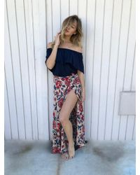 Tysa - Wrap Skirt In Rise - Lyst