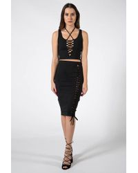 Donna Mizani - Lace Up Crop Top - Lyst