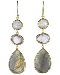 Margaret Elizabeth - Stone Drops Moonstone, Pink Amethyst & Labradorite - Lyst