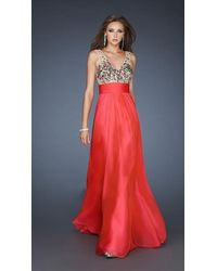 La Femme - 18465 Lovely Formal Sash Dress - Lyst