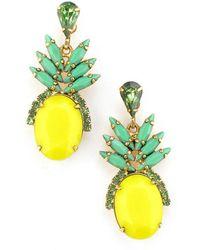 Elizabeth Cole - Ananas Earrings - Lyst