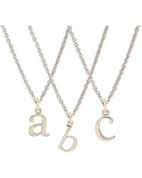 Rachael Ryen - K White Gold Letter Charm Necklace - All Letters Available - Lyst