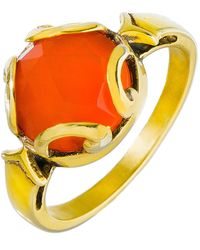 Heather Hawkins - Persephone Ring In Carnelian - Lyst