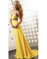 Jasz Couture - Dress In Yellow - Lyst