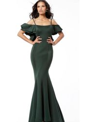 1e8fc77c0c Jovani - 57925 Ruffled Off-shoulder Scuba Mermaid Dress - Lyst
