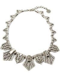 Ben-Amun - Deco Crystal Triangle Collar Necklace - Lyst