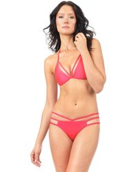Voda Swim - Hot Coral Cutout Hipster Bottom - Lyst