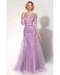 Mnm Couture - 9621 Illusion Bateau Neck A-line Dress - Lyst