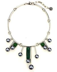 Ben-Amun - Sculptural Necklace With Pearl Drops - Lyst