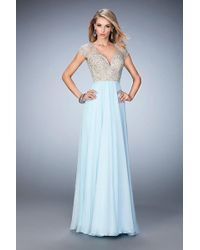La Femme - 21516 Bedazzled Sweetheart A-line Dress - Lyst