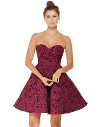 Alyce Paris - 3785 Strapless Jacquard Sweetheart A-line Dress - Lyst