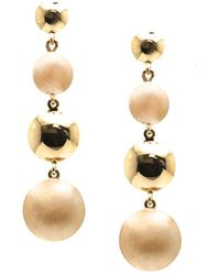 Trésor - Lente Tier Earrings In K With Satin And Shiny Finish - Lyst