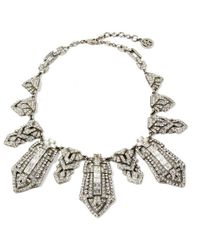 Ben-Amun - Deco Crystal Tower Collar Necklace - Lyst