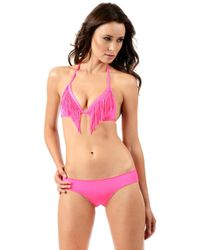 Voda Swim - Neon Pink Cheeky Bottom - Lyst