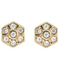 Rachael Ryen - Honeycomb Hexagon Stud Earrings - Lyst