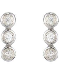 Ashley Schenkein Jewelry - Tulum 3 Bezel Gemstone Earrings - Lyst