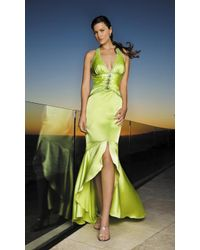 695cf00326f62 Lyst - La Femme 12278 V Neck Halter Neck High Low Mermaid Prom Dress ...