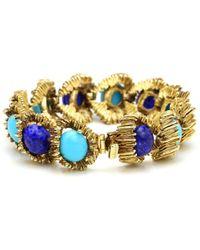 Ben-Amun - St. Tropez Gold Bracelet With Flowing Stones - Lyst