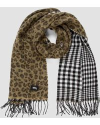Stussy Double Faced Wool Scarf - Green