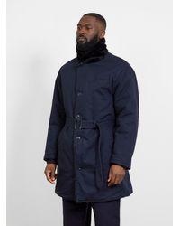 Engineered Garments Shawl Collar Reversible Coat Navy - Blue