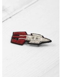 Macon & Lesquoy - Space Rocket Brooch - Lyst