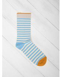 Bonne Maison - Azure Stripe Socks - Lyst