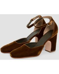 Rachel Comey - Bali Velvet Ankle Strap Court Shoes - Lyst