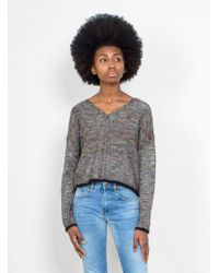 Raquel Allegra - Square V Neck Space Dye Sweater - Lyst