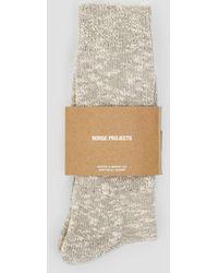 Norse Projects | Ebbe Melange Rib Socks | Lyst