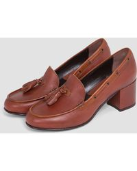 G.H.BASS - Chic Stella Heel Shoes Mid Brown And Tan - Lyst