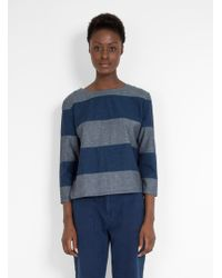 SIDELINE - Nancy Top Indigo Stripe - Lyst