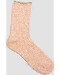 Mauna Kea - Slub Knit Cuff Line Socks Pink - Lyst