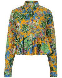 MSGM - Floral Shirt - Lyst