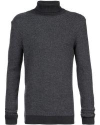 Stephan Schneider Grey High Neck Knit Sweater