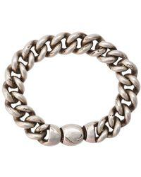 Werkstatt:münchen - Bracelet Curb Chain Stamped - Lyst